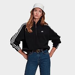 Women's adidas Originals Adicolor Classics Polar Fleece Half-Zip Sweatshirt