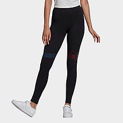 Women's adidas Originals Adicolor Trefoil Logo Leggings