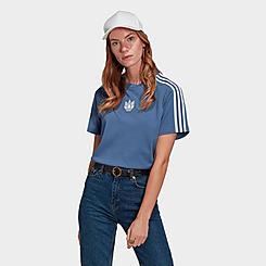 Women's adidas Originals Adicolor 3D Trefoil Loose T-Shirt