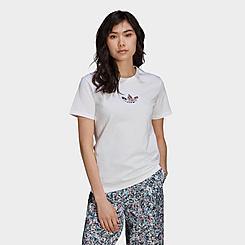 Women's adidas Originals Print-Fill Trefoil T-Shirt