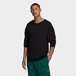 Men's adidas Originals R.Y.V. Silicone Double Linear Badge Crewneck Sweatshirt