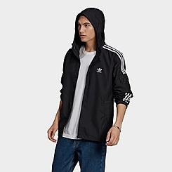 Men's adidas Originals Adicolor Classics 3-Stripes Full-Zip Windbreaker Jacket