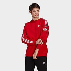 Men's adidas Adicolor 3D Trefoil 3-Stripes Crewneck Sweatshirt