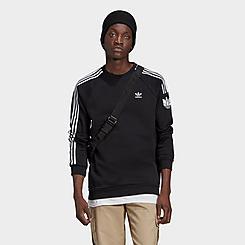 Men's adidas Originals LOUNGEWEAR Adicolor 3D Trefoil 3-Stripes Crewneck Sweatshirt