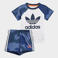 Infant and Kids' Toddler adidas Originals Camo Print T-Shirt and Shorts Set