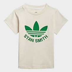 Infant and Kids' Toddler adidas Originals Stan Smith Trefoil Graphic Non-Dye Organic Cotton T-Shirt