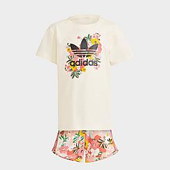 Girls' Toddler and Little Kids' adidas Originals HER Studio London Floral T-Shirt and Shorts Set