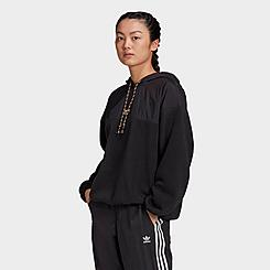Women's adidas Originals Embroidered Logo Crop Hoodie