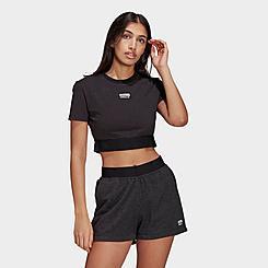 Women's adidas Originals Trefoil Logo Crop T-Shirt