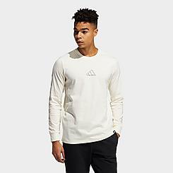 Men's adidas Geo Repeat Logo Long-Sleeve T-Shirt