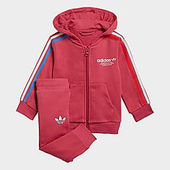 Girls' Infant and Toddler adidas Originals Adicolor Full-Zip Hoodie and Jogger Pants Set