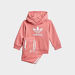 Girls' Infant and Toddler adidas Originals Pullover Hoodie and Jogger Pants Set