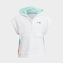 Girls' Little Kids' and Big Kids' adidas x LEGO® DOTS™ Short-Sleeve Pullover Hoodie
