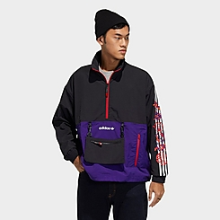 Men's adidas Originals Lunar New Year Half-Zip Windbreaker Jacket