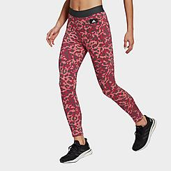 Women's adidas Sportswear Leopard Print Cotton Leggings