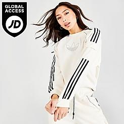 Women's adidas Originals Mixed Material Crew Sweatshirt