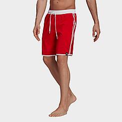Men's adidas Classic-Length 3-Stripes Swim Shorts