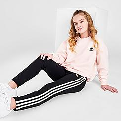 Girls' adidas Originals 3-Stripes Gleam Trefoil Logo Leggings