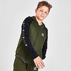 Boys' adidas Originals Taped Colorblock Full-Zip Hoodie