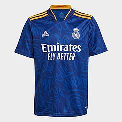 Kids' adidas Real Madrid 21-22 Away Soccer Jersey