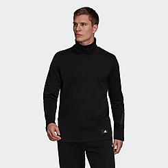 Men's adidas Sportswear Future Icons Winterized Mock Neck Long-Sleeve T-Shirt