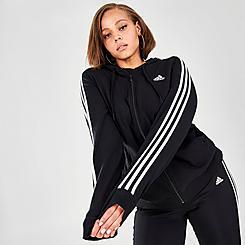 Women's adidas Essentials 3-Stripes Full-Zip Hoodie (Plus Size)