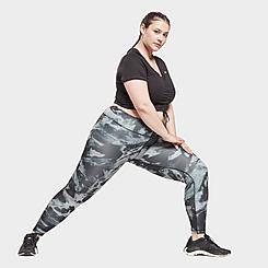 Women's Reebok Workout Ready MYT Printed Leggings (Plus Size)