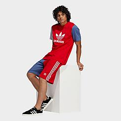 Men's adidas Originals Blocked 3-Stripes Sweat Shorts