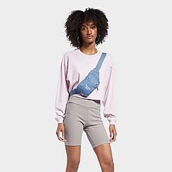 Women's Reebok Classics Wardrobe Essentials Long-Sleeve Cropped T-Shirt