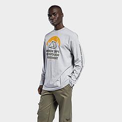 Men's Reebok Classics Camping Graphic Long-Sleeve T-Shirt