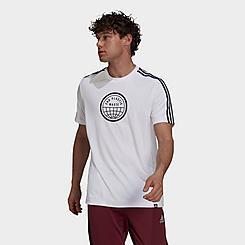 Men's adidas End Plastic Waste 3-Stripes Graphic T-Shirt