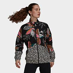 Women's adidas x FARM Rio Print Windbreaker Jacket