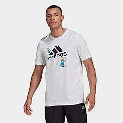 Men's adidas x The Simpsons Snowball Fight Graphic T-Shirt