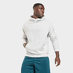 Men's Reebok Workout Ready Fleece Button Hoodie