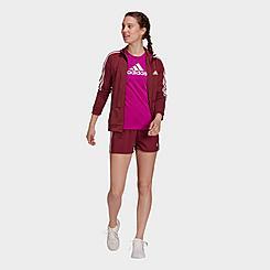 Women's adidas Primeblue Designed 2 Move Woven 3-Stripes Sport Shorts