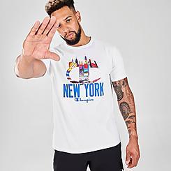 Men's Champion Big C NYC Skyline T-Shirt