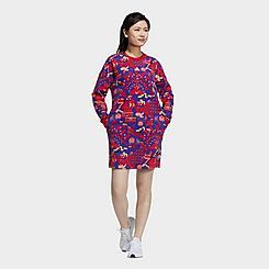 Women's adidas LNY Allover Print Sweater Dress