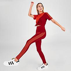 Women's adidas Originals Adicolor Sliced High Waisted Tights
