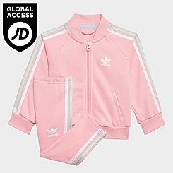 Girls' Infant and Kids' Toddler adidas Originals 3-Stripes Track Suit
