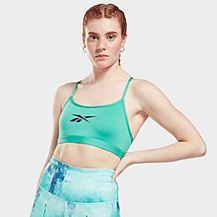 Women's Reebok Lux Skinny Strap Medium-Support Sports Bra