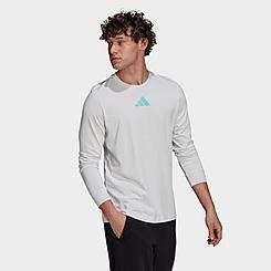 Men's adidas Future Block Long Sleeve Graphic T-Shirt