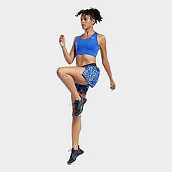 Women's Reebok Workout Ready Run Allover Print Training Shorts