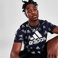 Men's adidas Brand Love Allover Print T-Shirt