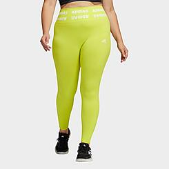 Women's adidas Training Aeroknit Cropped High-Rise Tights (Plus Size)