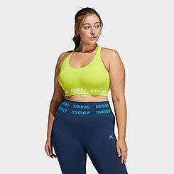 Women's adidas Training Aeroknit Light-Support Sports Bra (Plus Size)