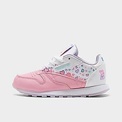 Girls' Little Kids' Reebok Peppa Pig Classic Leather Casual Shoes