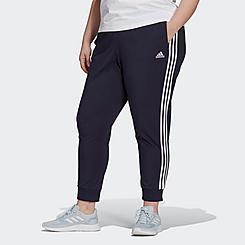 Women's adidas Essentials 3-Stripes Single Jersey Jogger Pants (Plus Size)