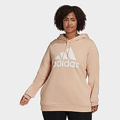 Women's adidas LOUNGEWEAR Essentials Logo Fleece Hoodie (Plus Size)
