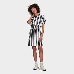 Women's adidas Originals Smocked Striped Dress
