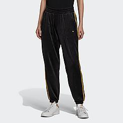 Women's adidas Originals Velvet Embossed Logo Track Jogger Pants
